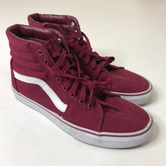 hoch gelobt einzigartiger Stil preisreduziert Vans High Top Sneakers Men Size 10.5 Red Shoes